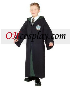 Harry Potter & The Half-Blood Prince Deluxe Slytherin Robe Barn Kostym