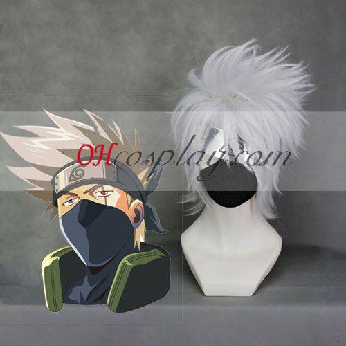 Naruto Hatake Kakashi Sliver Weiß Cosplay Kostüme Perücke
