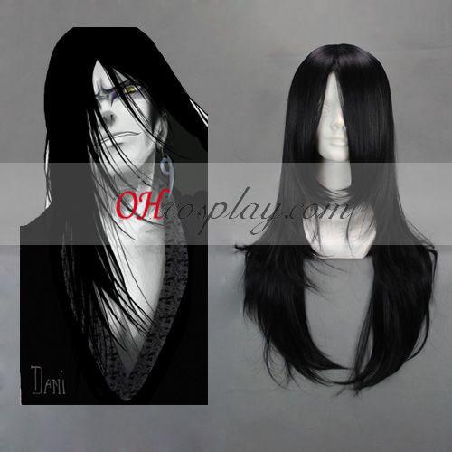 Naruto Orochimaru черно Cosplay Wig