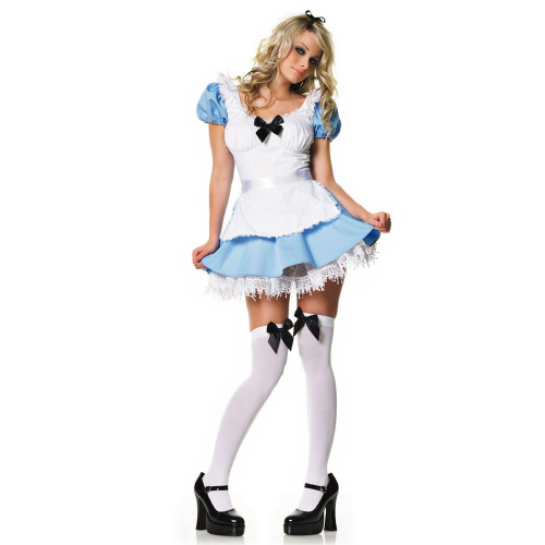 Alice Peasant Dress Adult Costume amid Alice heaped with Wonderland