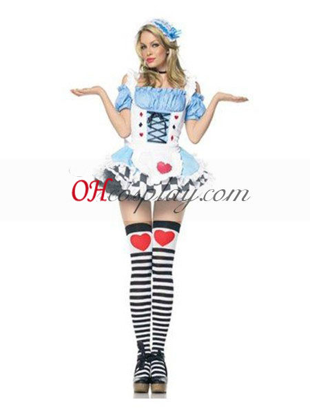 Alice even Wonderland Alice Hearts Dress Cosplay Costume