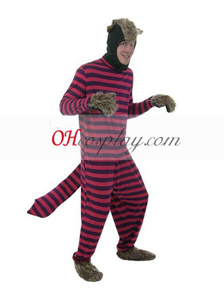 Alice in Wonderland Cheshire Cat uomo adulto Costumi Carnevale Cosplay