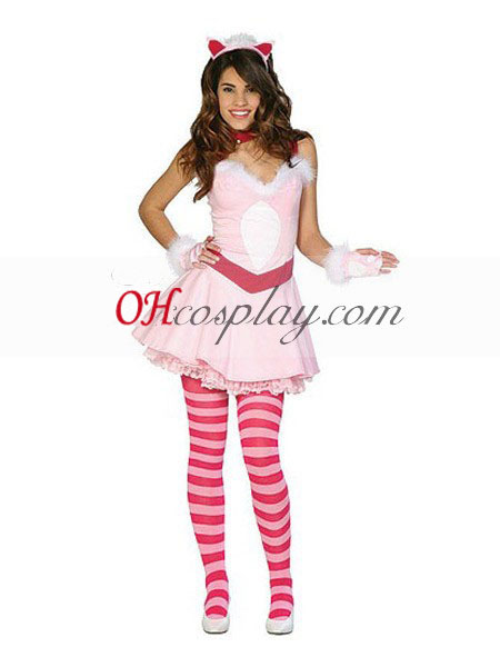 Alice i Underlandet Cheshire Cat Adult Cosplay Kostym
