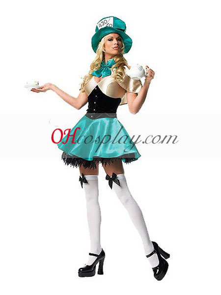 Alice in Wonderland Ladies Mad sombreroter Traje Cosplay