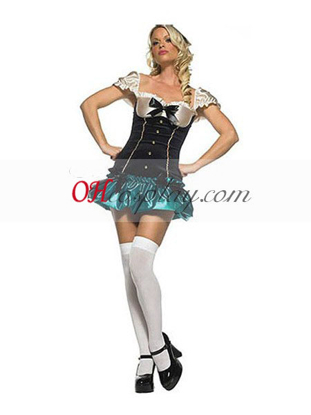 Alice in Wonderland Ladies Mad sombreroter Traje Cosplay Sexy