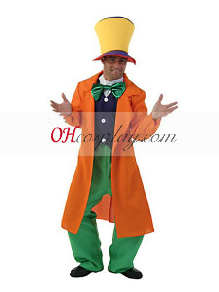 Alice quite by and large Wonderland Adult Mad Hatter Cosplay Costume
