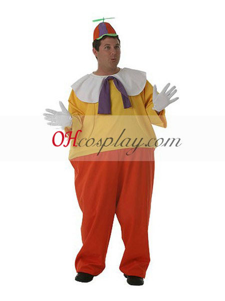 Alice in Wonderland Adult Tweedledum Cosplay Kostuum