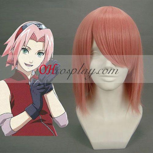 Haruno Sakura Naruto Cosplay peruca Rosa