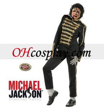 Michael Jackson Military Prince Black Adult Costume