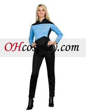 Star Trek Next Generation Blå Jumpsuit Deluxe Adult kostym
