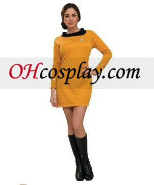 Star Trek Classic Gold Dress Deluxe Adult Costumes