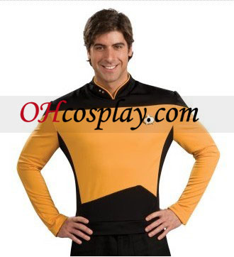 Star Trek Next Generation Gold Shirt Deluxe Adult kostym