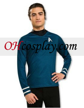 Star Trek Movie (2009) Grand Heritage camisa azul Adulto fantasia