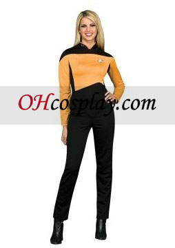 Star Trek Next Generation Gold Jumpsuit Deluxe Adult Costume