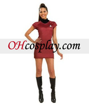 Star Trek Movie (2009) Red Kjole Deluxe Adult Kostume