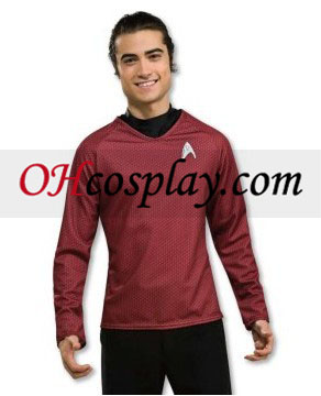 Star Trek Movie (2009) Grand Heritage camicia rossa Costume Adulto