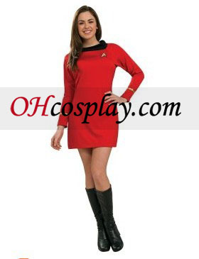 Star Trek Classic Red Dress Deluxe Adult kostym