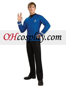 Star Trek Movie (2009) camisa azul Adulto Fantasia Deluxe