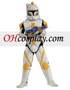 Star Wars Animated Clone Trooper Commander Cody Vuxen Kostym