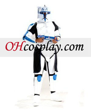 Star Wars Animated Deluxe Clone Trooper Leader Rex Vuxen Kostym