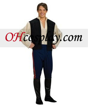 Star Wars Deluxe Han Solo Adult Cosplay Halloween Costume Buy Online