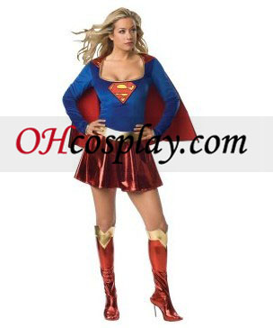 Supergirl Deluxe 1-Piece Adult kostym