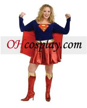 1 adult deluxe piece supergirl
