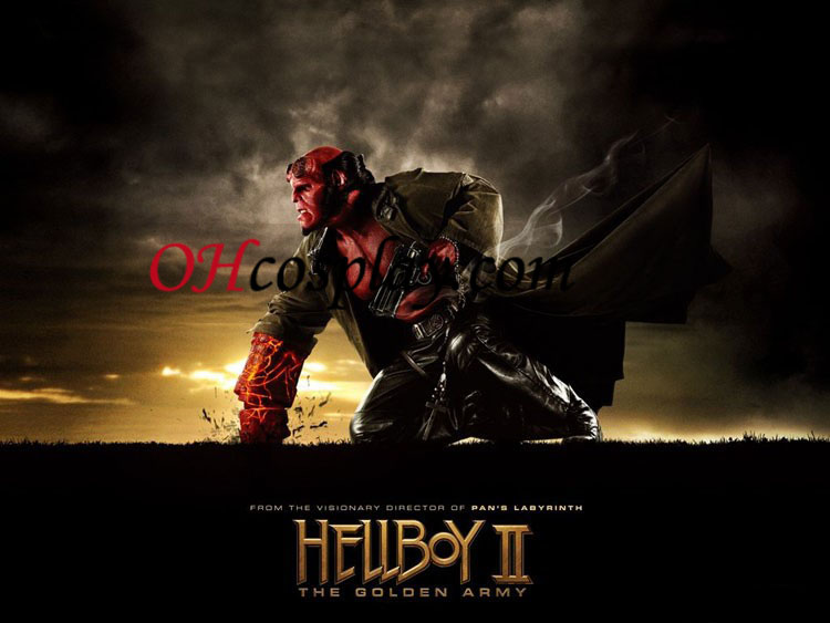 hellboy מסכת PVC קוספליי - Premium Edition
