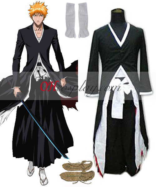 Bleach Kurosaki Ichigo Bankai udklædning Kostume