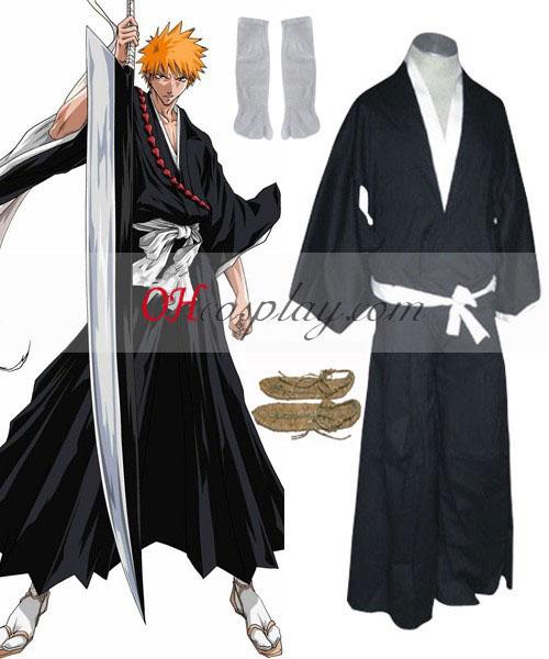 Bleach Ichigo Soul Reaper Cosplay Kostuum