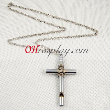 Hell pige cross fløjt halskæde