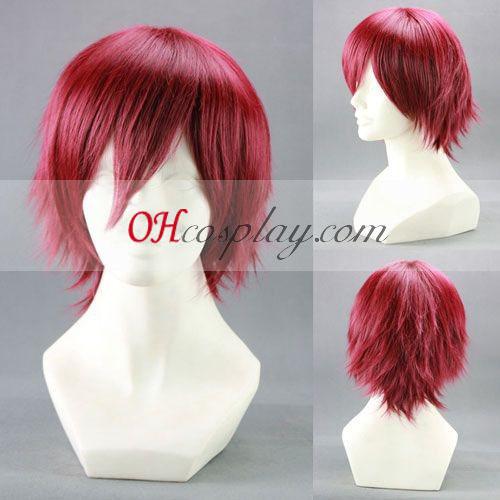 Mawaru Pingudoramu Takakura Kanba червено Cosplay Wig