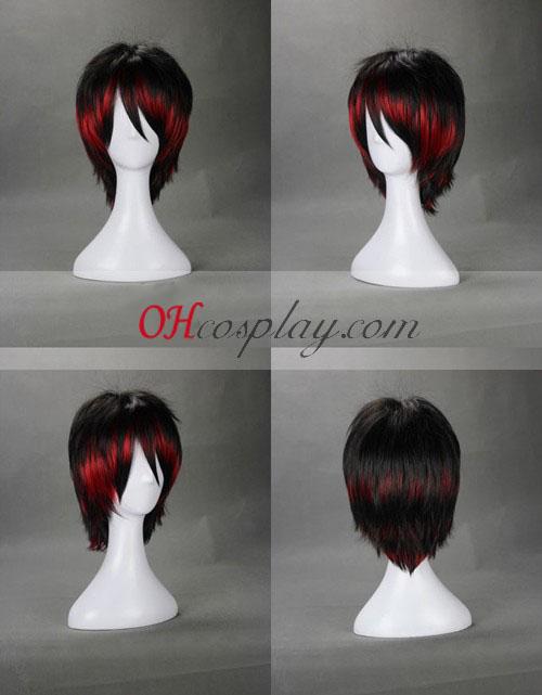 Япония Harajuku серия черно Cosplay Wig