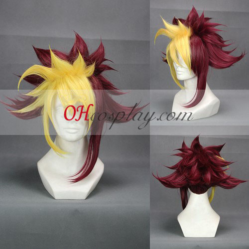 zexal IV 코스프레 노란색& 레드 코스프레 가발