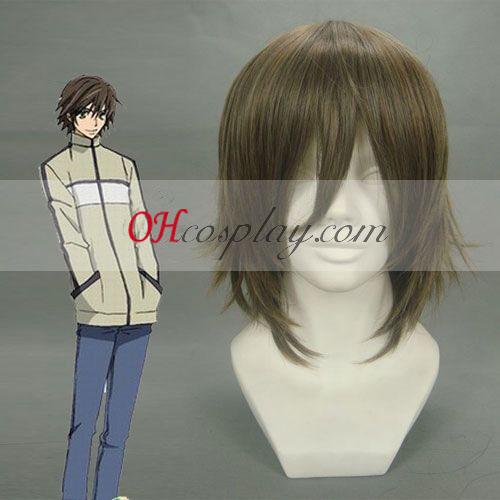 Junjou Romantica Takahashi Misaki Dark Brown udklædning Paryk