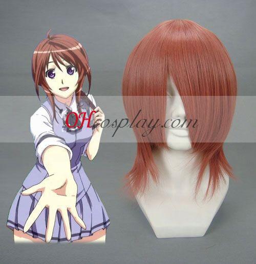 Nabari no Ou Shimizu Raikou naranja cosplay peluca