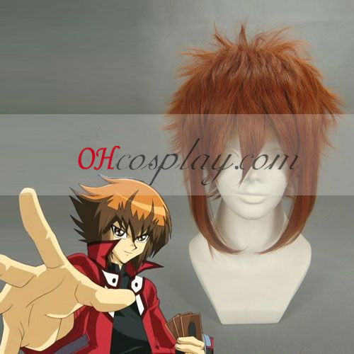 Duel Monsters GX Judai Yuki Cosplay parrucca Marrone Rosso