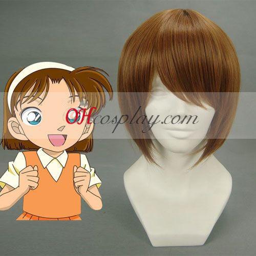 Detective Conan Yoshida Ayumi Cosplay peruca castanho-escuro