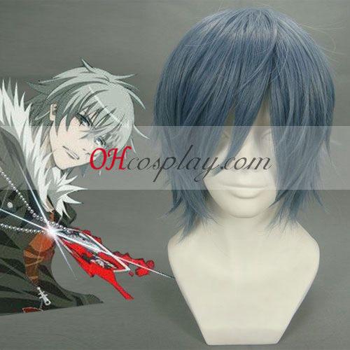 Togainu no Chi Akira Cosplay peruca Cinza azulado