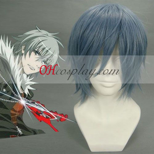 Togainu ingen Chi Akira blåaktig grå Cosplay parykk