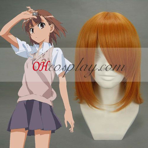 Toaru Kagaku no Railgun Misaka Mikoto Orange Cosplay Wig