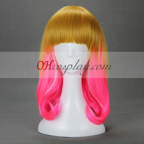 Japan Harajuku Series Golden&Pink Cosplay Wig