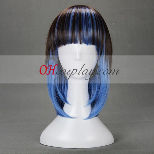Japan Harajuku Lovers Serie Black&Blue Cosplay Wig