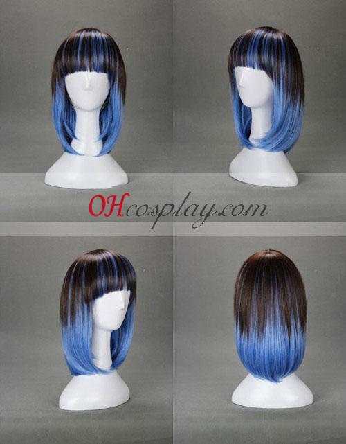 Japan Harajuku Series Black&Blue Cosplay Wig