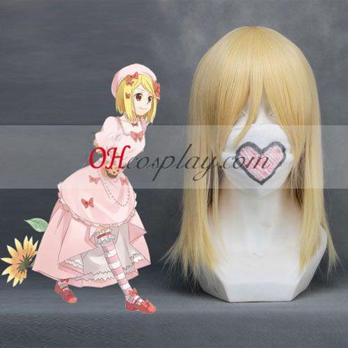Umineko geen Naku Koro ni Lambdadelta Golden cosplay pruik