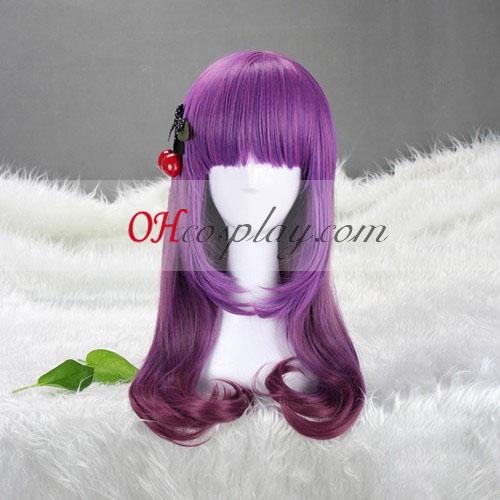 Япония Harajuku серия лилав сенки Cosplay Wig