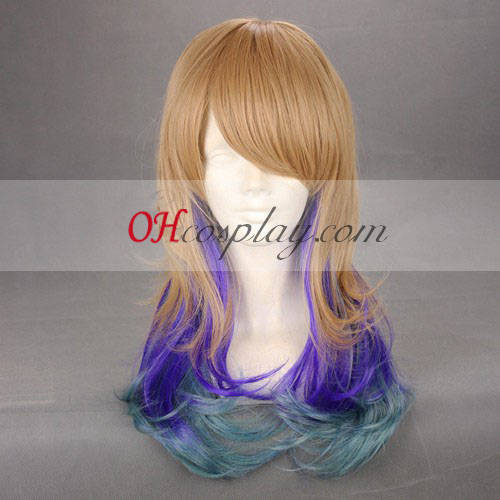 Japan Harajuku Series Brown&Purple&Green Cosplay Wig