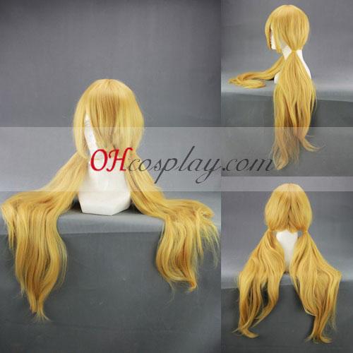 Binbo-gami ga! Binboda Momiji Cosplay peruca Amarela