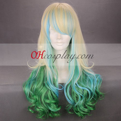 Japan Harajuku Series Yellow&Greeen Cosplay Wig