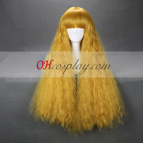 Japan Harajuku Lovers Serie gele tinten Cosplay Wig
